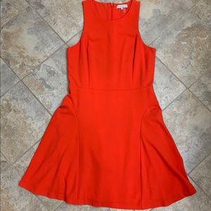 1.State Pretty Orange skater dress size S